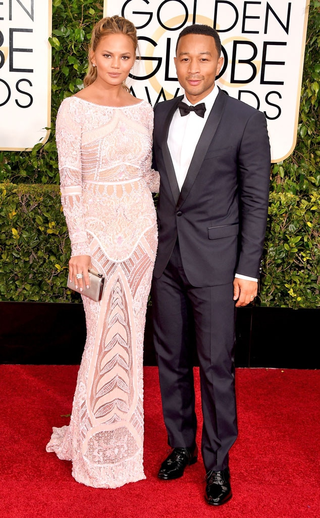 Chrissy Teigen, John Legend, Golden Globes