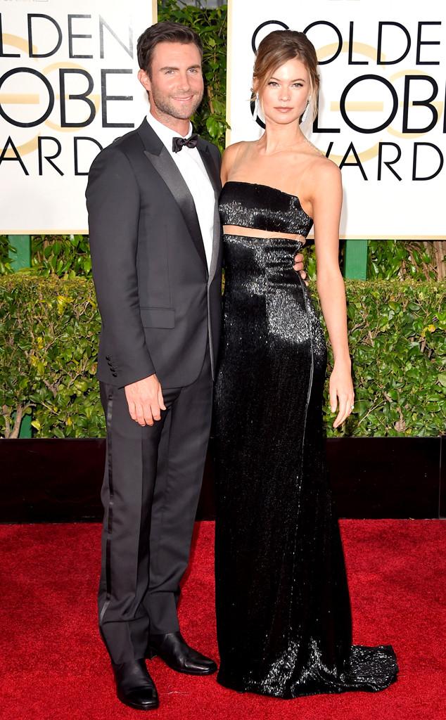 Adam Levine, Behati Prinsloo, Golden Globes