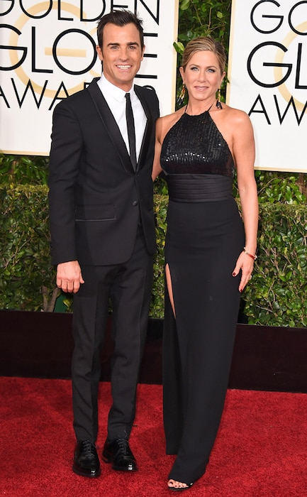 Justin Theroux, Jennifer Aniston, Golden Globes