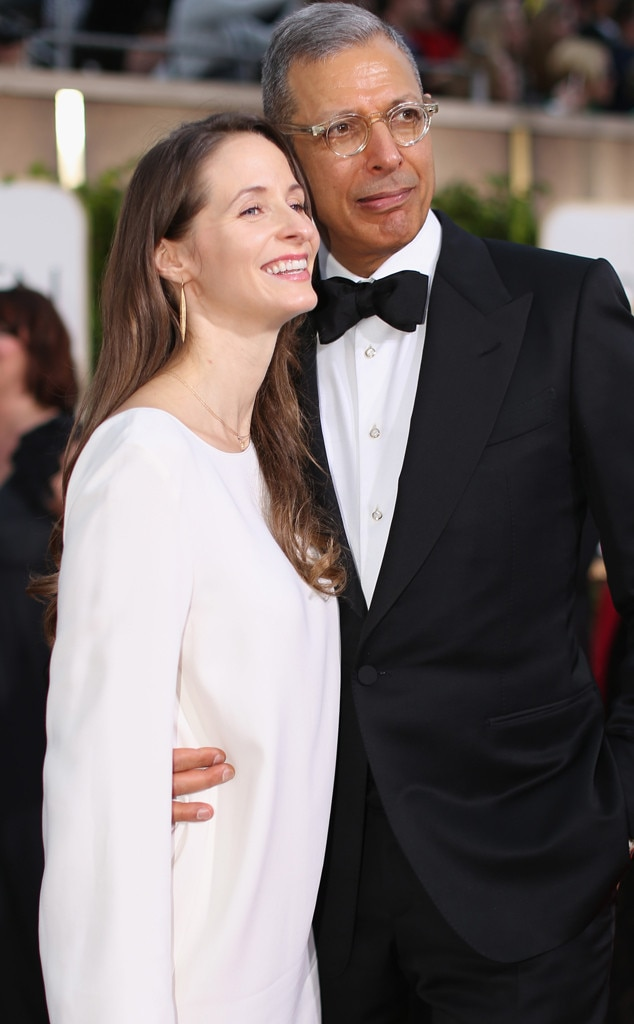 Emilie Livingston, Jeff Goldblum, Golden Globe Candids