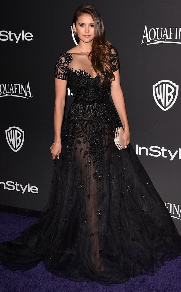 Nina Dobrev from 2015 Golden Globes After-Party Looks
