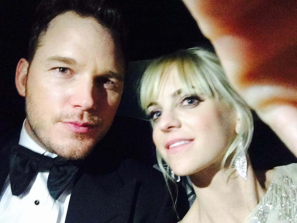 Anna Faris, Chris Pratt, Golden Globes