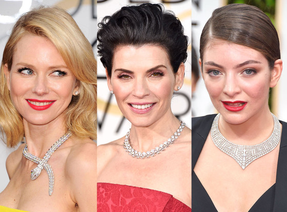 Diamond Necklaces, Golden Globes