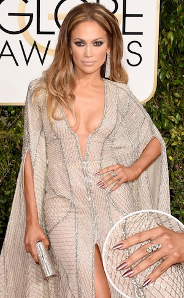 Jennifer Lopez, Manicure, Golden Globes