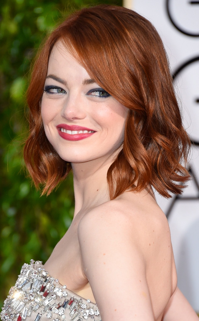 Emma Stone From Get The Look 2015 Golden Globes Hair amp Makeup E News