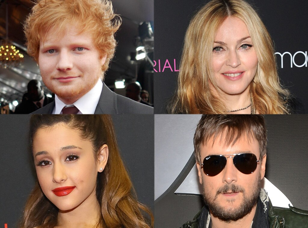 Ariana Grande, Madonna, Ed Sheeran, Eric Church