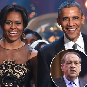 Michelle Obama, Barack Obama, Mike Huckabee