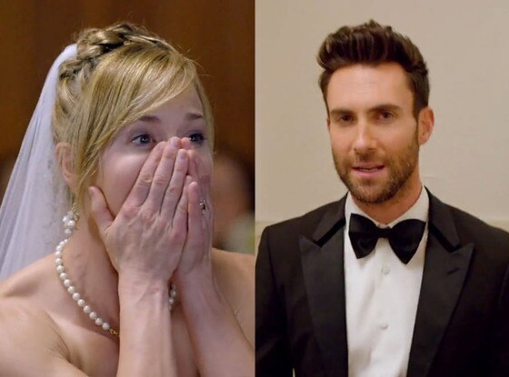 Maroon 5 crashes weddings in sugar video watch brides and for Maroon 5 wedding video