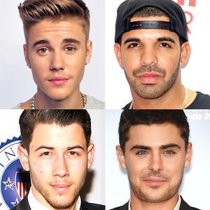 Zac Efron, Justin Bieber, Drake, Nick Jonas