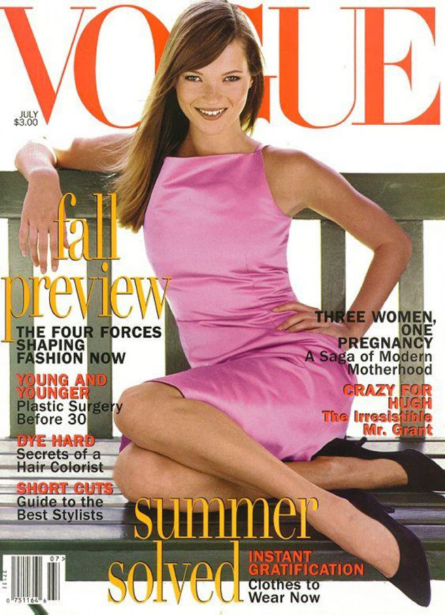 Kate Moss from Stars' First Vogue Covers