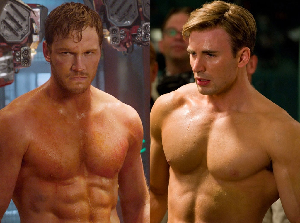 Chris Pratt, Guardians of the Galaxy, Captain America: The First Avenger, Chris Evans