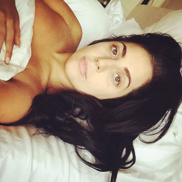Lady Gaga Posts Topless, Makeup-Free Selfie From Bed! | E ... Lady Gaga Instagram