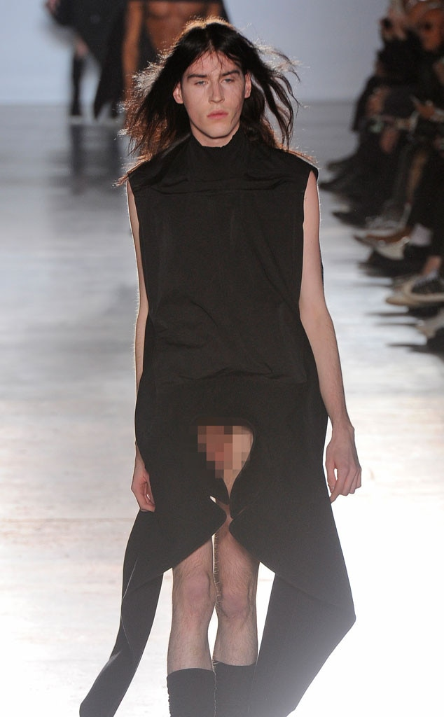 Rick Owens, Menswear, Penis, ESC: Craziest Moments from Fashion Week