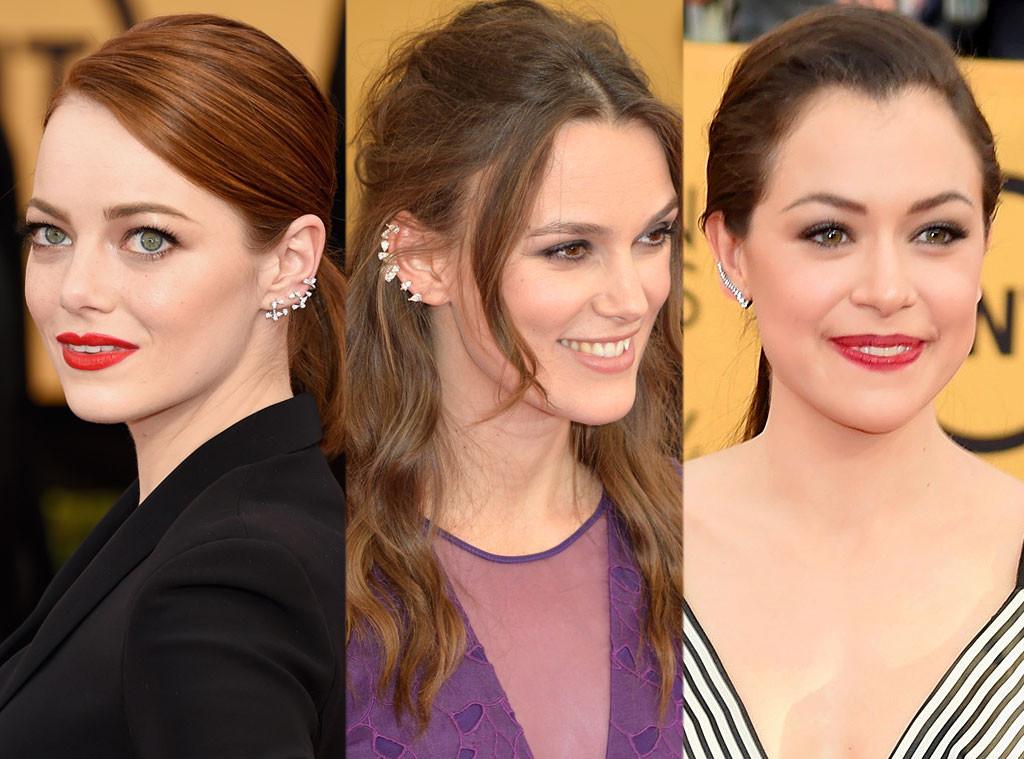 Emma Stone, Keira Knightley, Tatiana Maslany, SAG Awards, Ear Cuffs