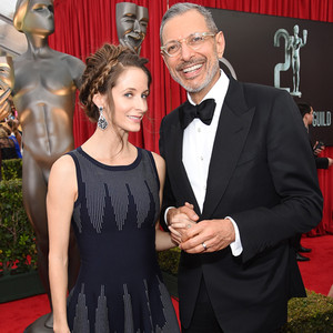 Jeff Goldblum, Emilie Livingston, SAG Awards