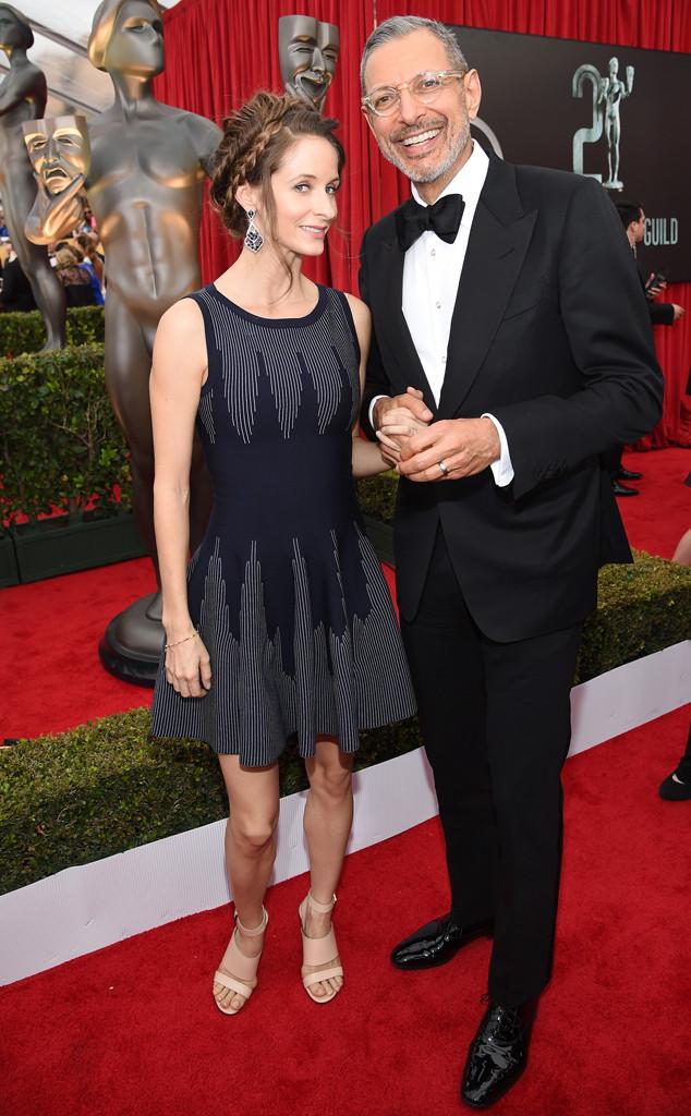Jeff Goldblum, Emilie Livingston, SAG Awards