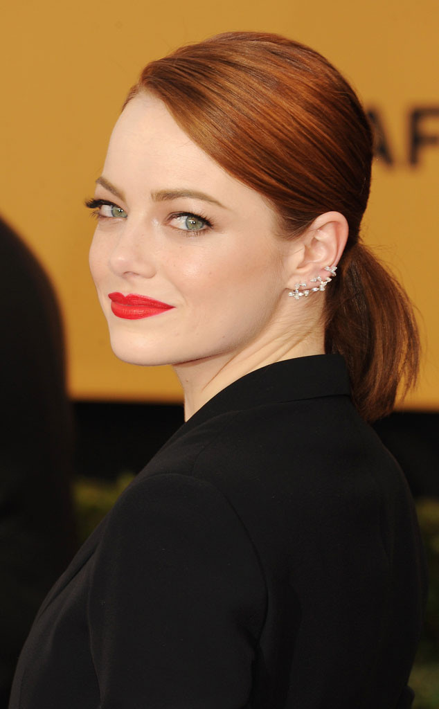 Emma Stone, SAG Awards, Get the Look, Hair, Makeup