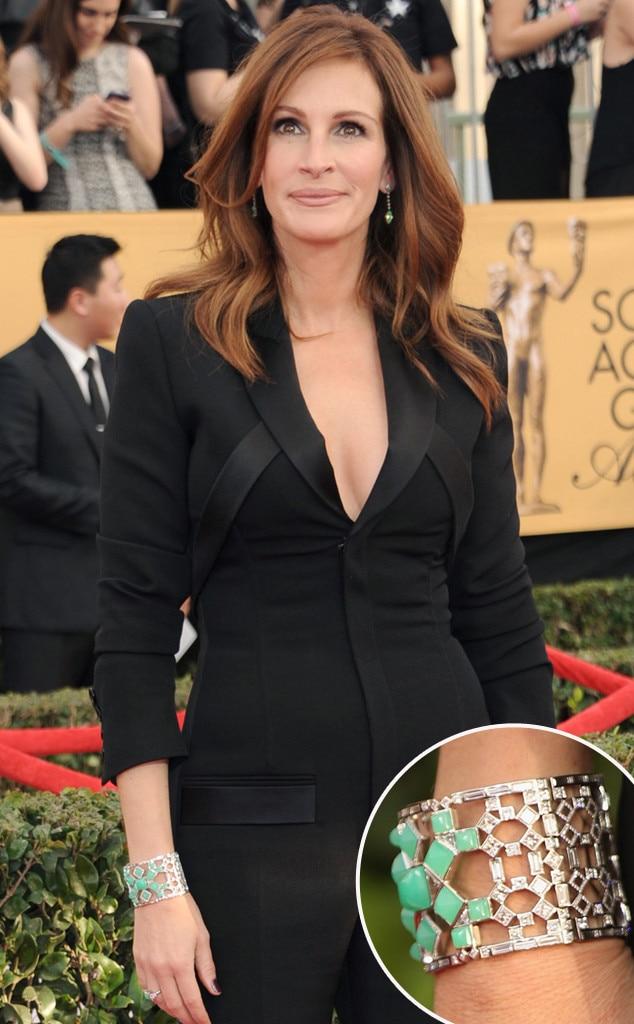 Julia Roberts, SAG Awards, Get the Look, Hair, Makeup, Jewelry