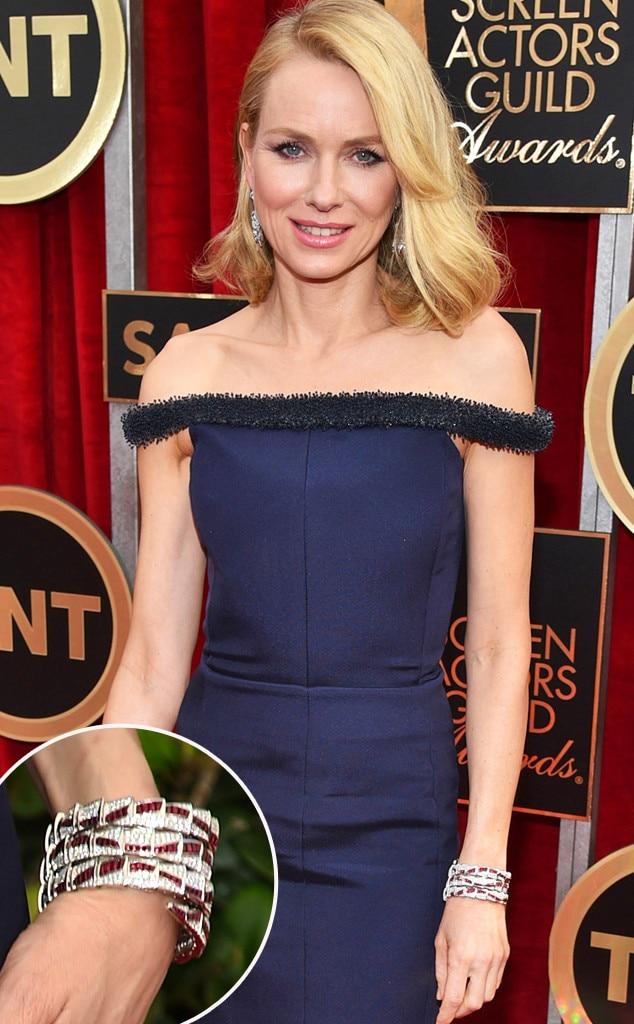 Naomi Watts, SAG Awards, Jewelry