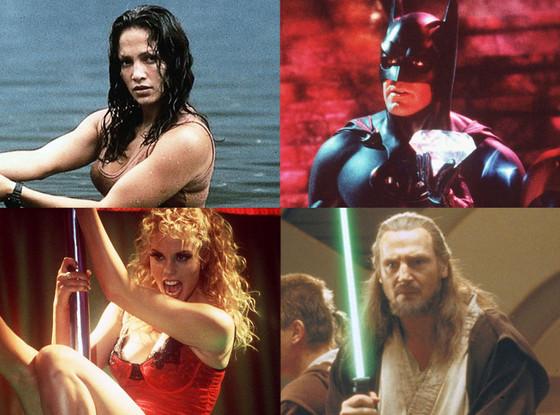 Anaconda, Batman & Robin, Showgirls, Star Wars: Phantom Menace, Worst 90's Movies