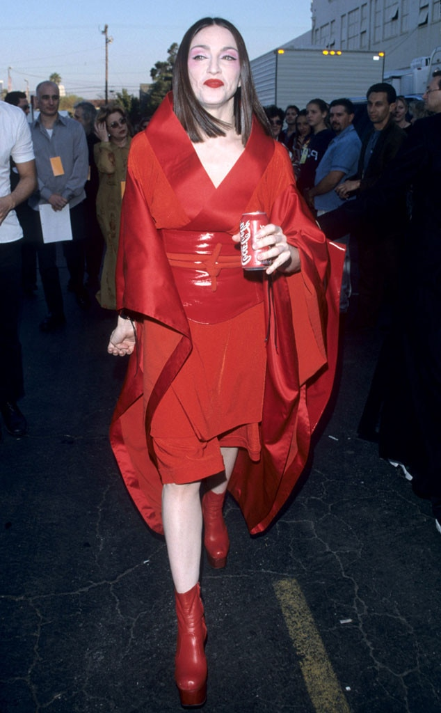 Madonna 1999 From Grammys Red Carpet Look Back