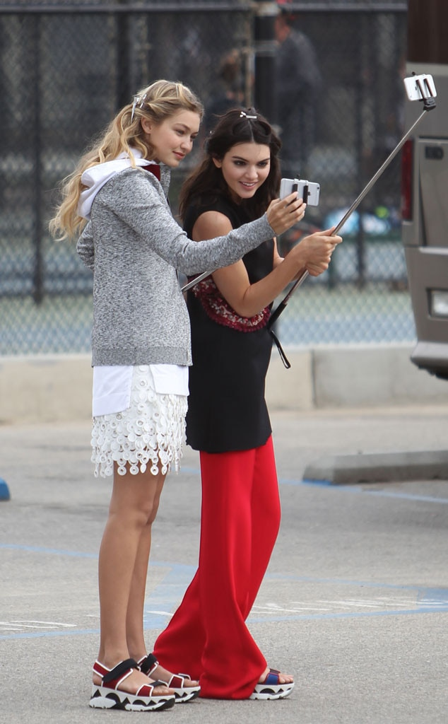 Gigi Hadid, Kendall Jenner, Selfie Stick, Celebs taking Selfies