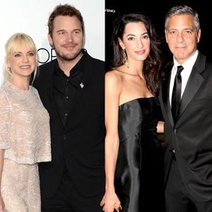 Perfect Pairs, Anna Faris, Chris Pratt, Amal Alamuddin, George Clooney