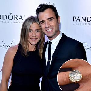Jennifer Aniston, Justin Theroux, Engagement Ring