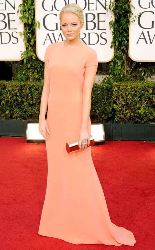 Emma Stone from A Colorful History of Golden Globes ... Emma Stone Golden Globes