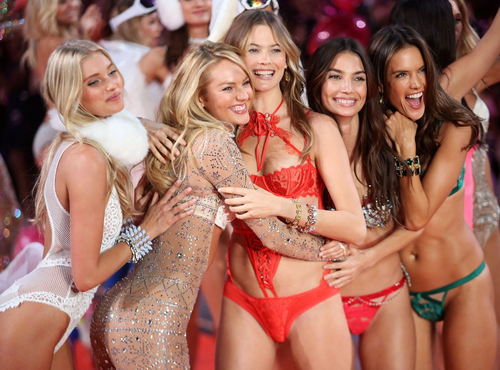 Candice Swanepoel, Behati Prinsloo, Lily Aldridge, Alessandra Ambrosio, Victoria's Secret Fashion Show