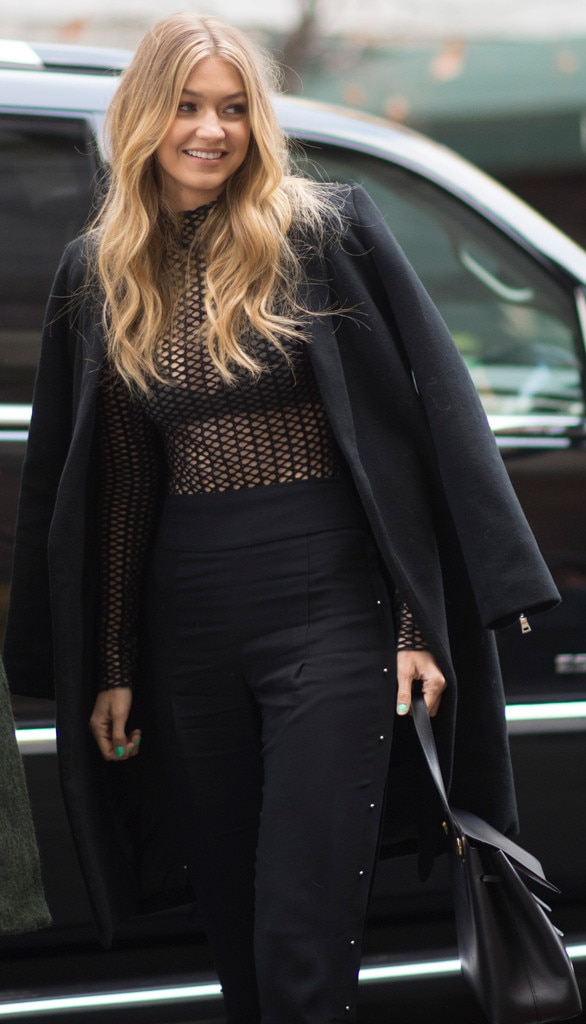 All About The Coat From Gigi Hadid 39 S Street Style E News