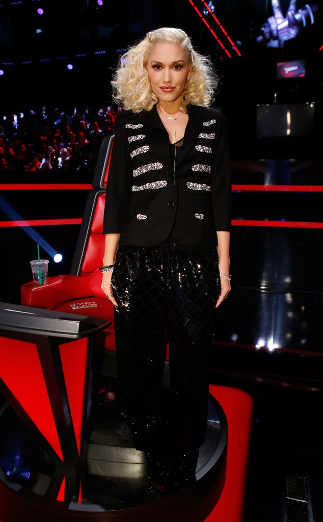 sequin love from gwen stefanis the voice looks e news