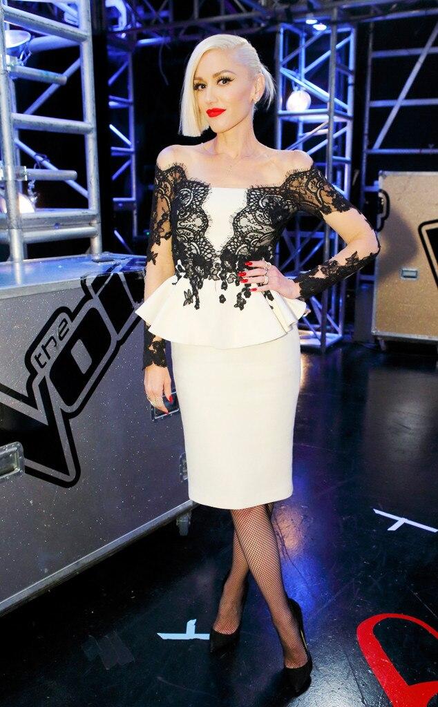 Pop Of Peplum From Gwen Stefani S The Voice Looks E News