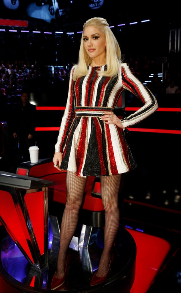 Red White Amp Black From Gwen Stefani S The Voice Looks E