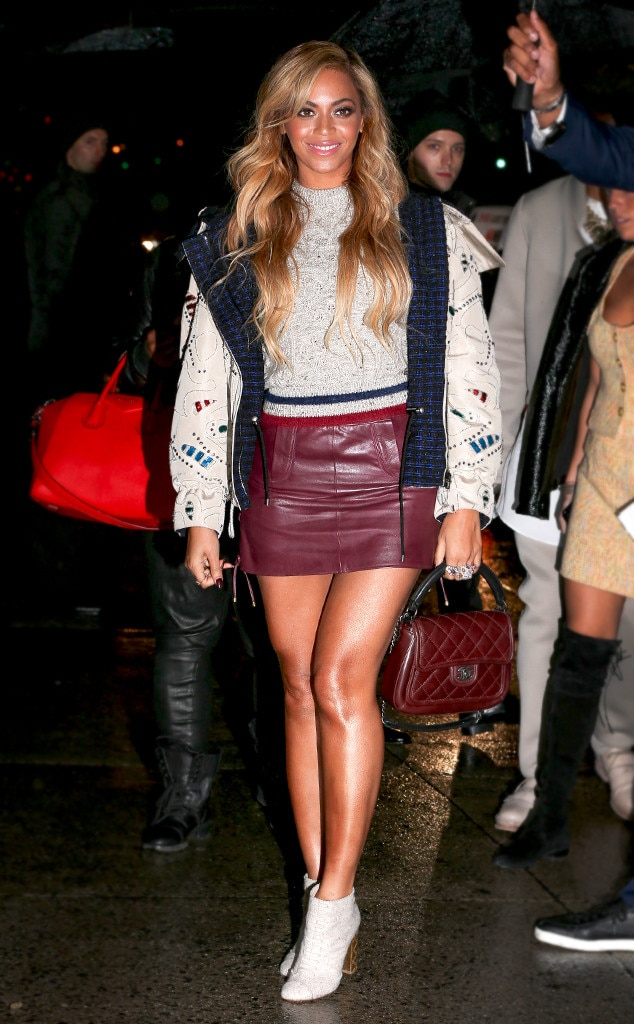beyonc from how to wear mini skirts this fall e news