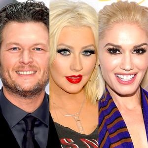 Blake Shelton, Christina Aguilera, Gwen Stefani