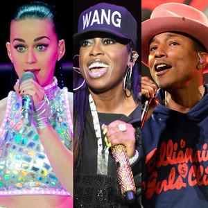 Katy Perry, Missy Elliot, Pharrell Williams