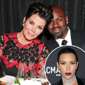 Kris Jenner, Corey Gamble, Kim Kardashian