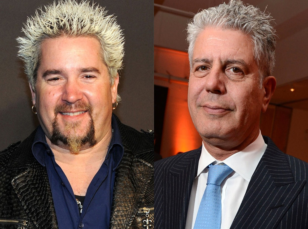 Guy Fieri, Anthony Bourdain
