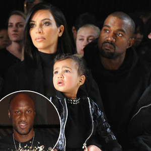 Kim Kardashian, Lamar Odom, North West, Kanye West