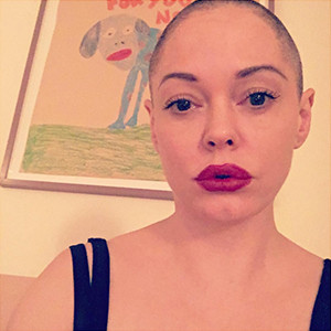 Rose McGowan, Shaved Head