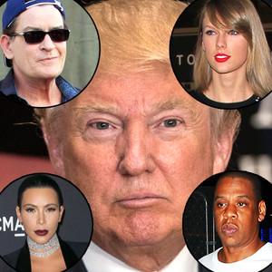 Donald Trump, Kim Kardashian, Jay Z, Taylor Swift, Charlie Sheen