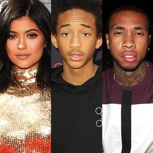 Kylie Jenner, Tyga, Jaden Smith