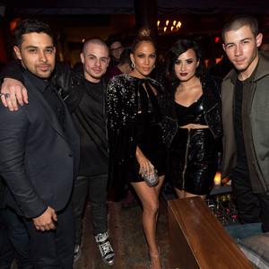 Wilmer Valderrama, Casper Smart, Jennifer Lopez, Demi Lovato, Nick Jonas