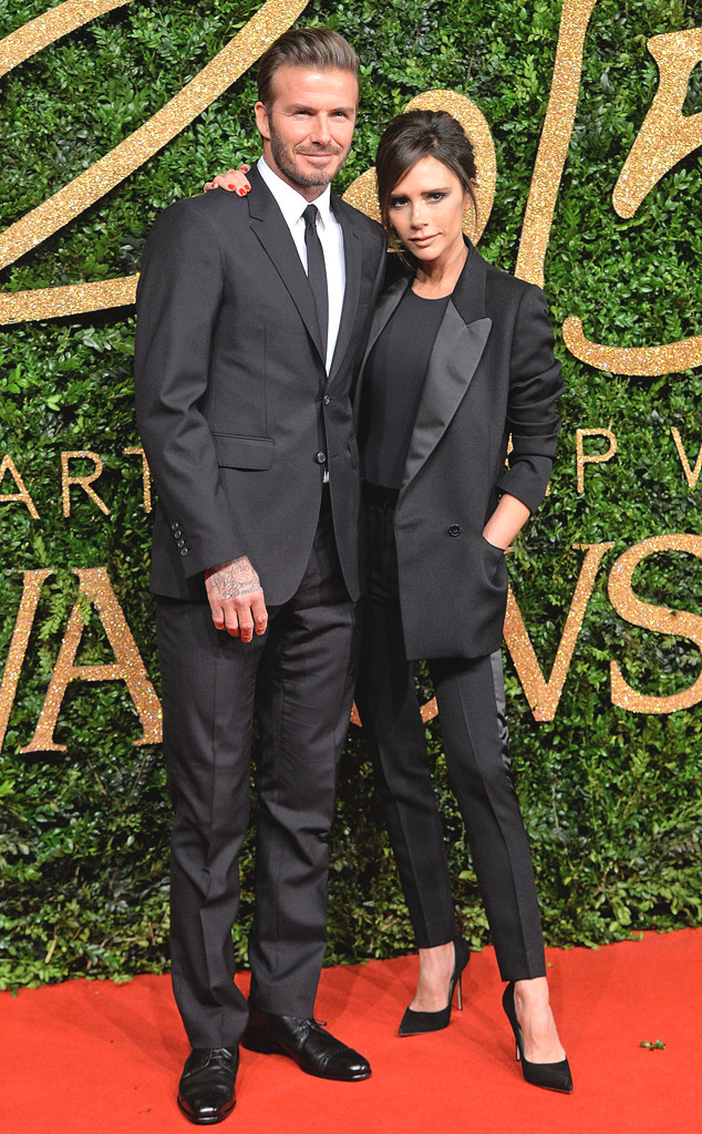 David Beckham, Victoria Beckham, British Fashion Awards