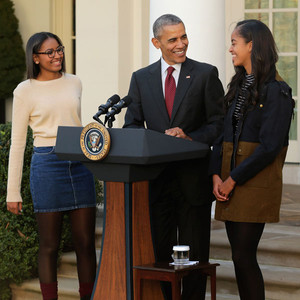 President Barack Obama, Sasha, Malia