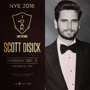 Scott Disick, 1OAK NYE 2016 Promo