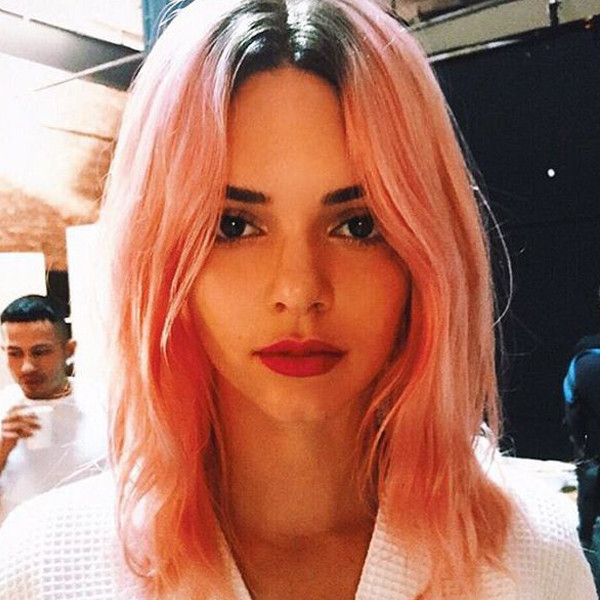 pink hair from latest kardashian trends