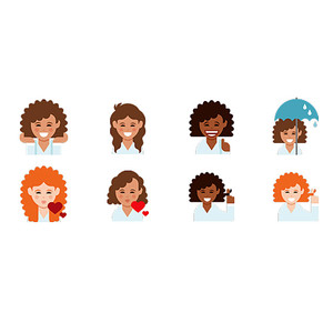 Dove Curly Hair Emojis