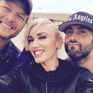 Adam Levine, Gwen Stefani, Blake Shelton